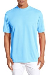 Men's Bugatchi Short Sleeve Crewneck T Shirt Sky