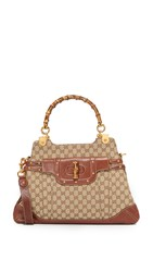 Wgaca Gucci Bamboo Pop Bag Previously Owned Brown