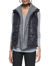 Eileen Fisher Puffer Reversible Vest Black Women's