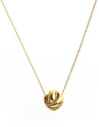 Lord And Taylor 18K Gold Over Sterling Silver Sliding Knot Necklace