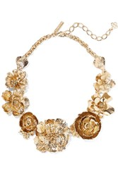 Oscar De La Renta Gold Tone Necklace