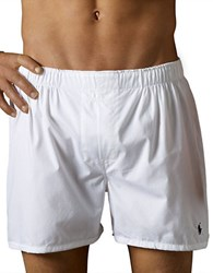 Polo Ralph Lauren Combed Cotton Boxer Short Set White