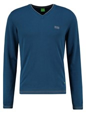 Hugo Boss Green Jumper Blue