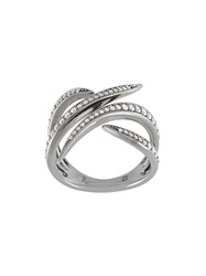 Gisele For Eshvi 18Kt White Gold Ring With Black Rhodium Plate Metallic