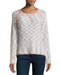 Milly Marbled Neon Stitch Sweater Black Pink