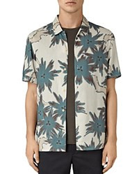 Allsaints Zapata Slim Fit Button Down Shirt Off White