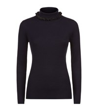 Claudie Pierlot Marta Roll Neck Sweater Female Navy