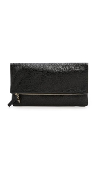 Clare V. Supreme Fold Over Clutch Black