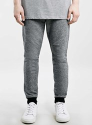Topman Black White Textured Super Skinny Joggers