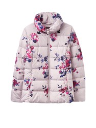 Joules Puffa Printed Padded Jacket Off White
