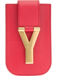 Saint Laurent 'Classic Y' Iphone 3 And 4 Case Red