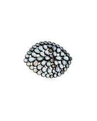 Bavna Topaz And Diamond Open Marquise Cocktail Ring Women's