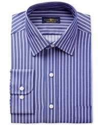 Club Room Estate Men's Classic Fit Wrinkle Resistant Purple Stripe Dress Shirt Only At Macy's Purple Denim