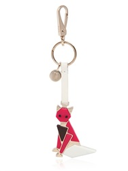 Tod's Fox Metal And Leather Key Holder