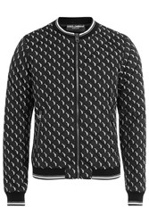 Dolce And Gabbana Printed Bomber Jacket White