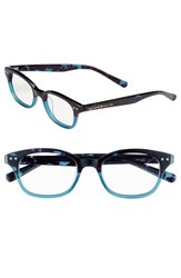 Women's Kate Spade New York 'Rebecca' 49Mm Reading Glasses Sky Blue Tortoise