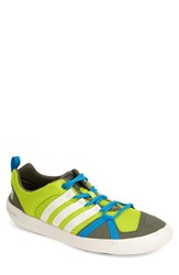 Men's Adidas 'Climacool Boat Lace' Water Shoe Solar Yellow Chalk Green