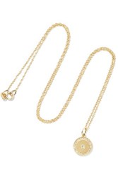Andrea Fohrman Full Moon Phase 18 Karat Gold Diamond Necklace