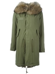 Mr And Mrs Italy Rabbit Raccoon Fur Lined Parka Nude And Neutrals