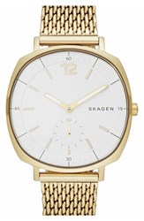 Women's Skagen 'Rungsted' Bracelet Watch 34Mm Gold White