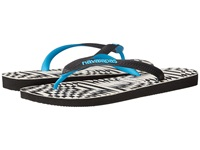 Havaianas Top Optical Zig Zag Sandal Black Turquoise Men's Sandals