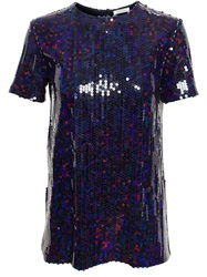 Nina Ricci Sequinned Blouse Blue