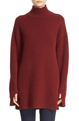Joseph Women's High Neck Cashmere Tunic Oxblood