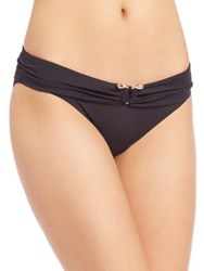 Roberto Cavalli Fold Over Bikini Bottom Nero