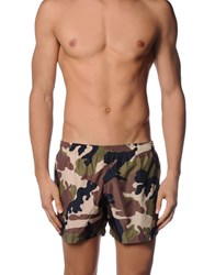 Dondup Swimwear Swimming Trunks Men Military Green