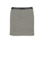T By Alexander Wang Striped Mini Skirt Black White Black White