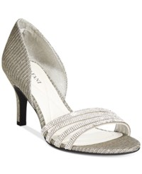Alfani Giorjah D'orsay Evening Pumps Women's Shoes Pewter