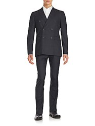 Burberry Wool And Cashmere Blend Suit Charcoal