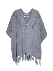 Barrie Fringed Cashmere Poncho