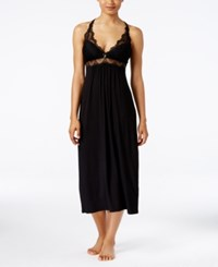 Thalia Sodi Lace Trimmed Knit Nightgown Only At Macy's Black