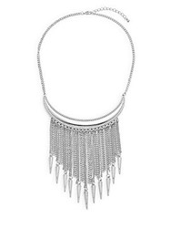 Jules Smith Designs Bear Claw Fringed Necklace Silver