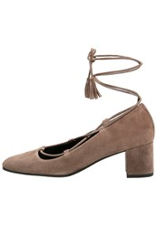 Kennel Schmenger Isabel Laceup Heels Tundra Brown