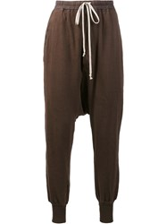 Rick Owens Drkshdw 'Prisoner' Sweatpants Brown