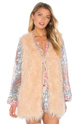 Show Me Your Mumu Luis Faux Fur Vest Blush