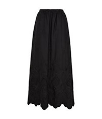 Eskandar Embroidered Maxi Skirt Black