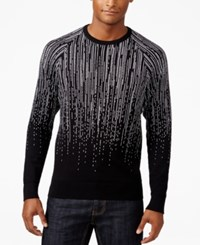 Inc International Concepts Men's Jacquard Star Fall Sweater Only At Macy's Deep Black