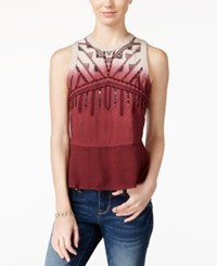 American Rag Embellished Dip Dyed Tank Top Only At Macy's Zinfandel