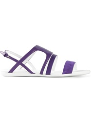 Hogan Strappy Flat Sandals Pink And Purple