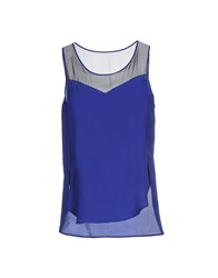 Space Style Concept Topwear Tops Women Bright Blue