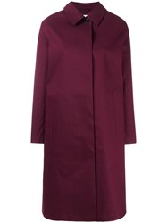 Mackintosh Concealed Fastening Mid Coat Red
