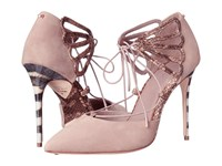 Ted Baker Mallai Light Grey Nubuck Exotic Women's Shoes Pink