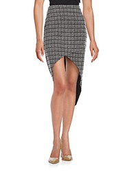 State Of Being High Low Skirt Black