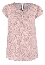 Soyaconcept Manaia Blouse Hot Coral Off White