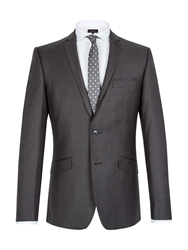 Limehaus Graphite Twill Single Breasted Suit Jacket Grey