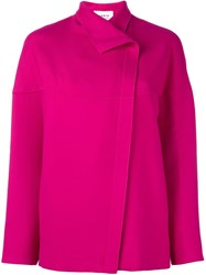 Akris Punto Longsleeved Boxy Jacket Pink And Purple