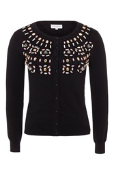 Wolf And Whistle Black Beaded Cardigan Black